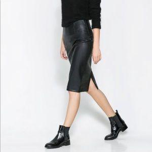 ❣️LastChance❣️Zara Vegan Leather Pencil Skirt